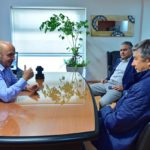 Ricardo Sastre se reunió con Menna y Pagliaroni