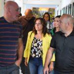 Gustavo Sastre supervisó las tareas de refacción en las Escuelas Municipales