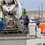Sastre destacó el avance de la obra de pavimentación de la calle Estivariz
