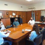 Alvaredo recibió al intendente de Pirámides y a representantes de empresas para avistaje de Ballenas