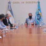 Arcioni encabezó una reunión de trabajo con miembros de su gabinete