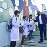 Sastre encabezó el inicio del Ciclo Lectivo 2021 y valoró la vuelta a la presencialidad en las escuelas